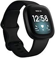 Fitbit Versa 3, Health & Fitness Smartwatch with GPS, 24/7 Heart Rate, Voice Assistant & up to 6+ Days