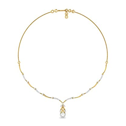 PC Jeweller The Rezso 18KT Yellow Gold and Solitaire Necklace for Women