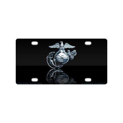 Christmas/Thanksgiving Tag United States Marine Corps Marines Semper Fi Metal License Plate Frame (New) 12 X 6 by USMC License Plate