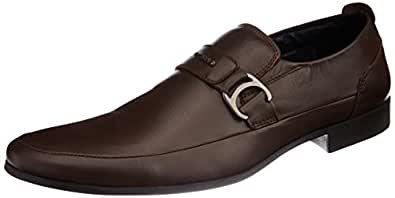 GAS Men's Cardio Brown Leather Formal Shoes - 9 UK