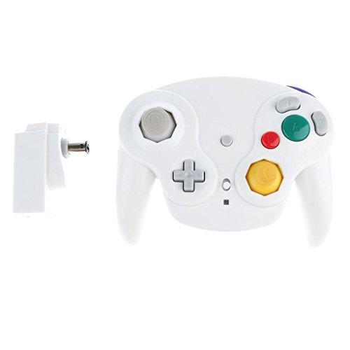 ELECTROPRIMEÃ?â??® 2Pieces Wireless Game Controller for Nintendo Gamecube/Wii/Wii U Black+White