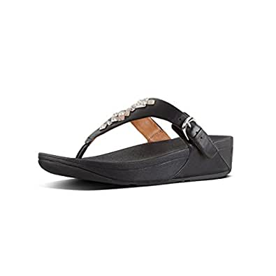 13570f669 Fitflop Women s s Skinny Tm Toe-Thong Sandals Crystal Flip Flops ...
