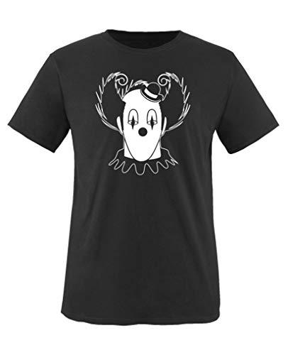 Comedy Shirts - Halloween Clown - Mädchen T-Shirt - Schwarz/Weiss Gr. 110-116