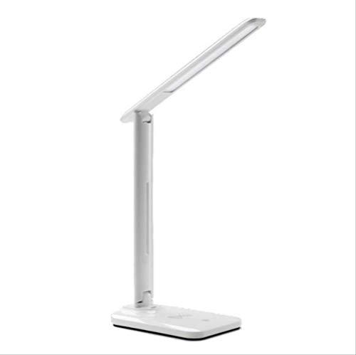 LED Tischlampe mit dimmbarer Schreibtischlampe mit QI Wireless Ladegerät USB Ausgang verstellbares Licht Flexibler moderner Bürotisch - Verstellbare Bürotische