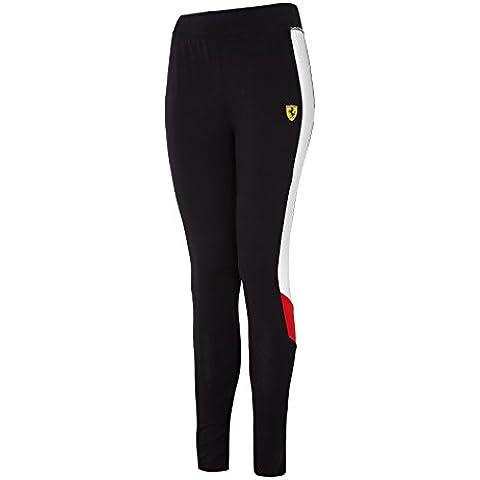 Ferrari Formula 1Team Scuderia Leggings Donna, taglie: XS-XL, Black, Ladies (S) UK 10 (W:68cm/L:79cm)