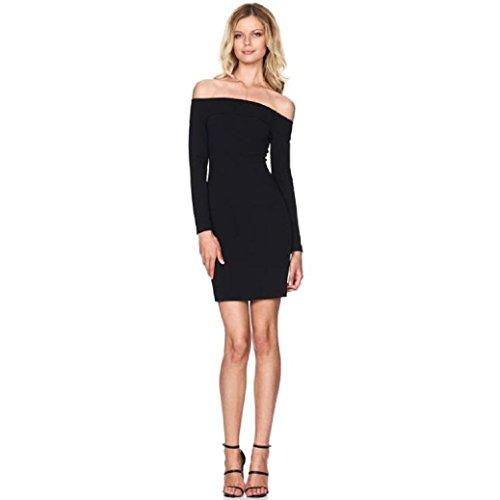 Robe Femme, Fulltime® Sleeve Femmes Sexy Fashion Robe bustier longue robe Slim Noir