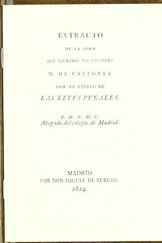 Las Leyes Penales (Monografía)