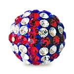 I-Beads - Perle Style Shamballa Ronde Deluxe Union Jack 10mm (1)