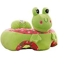 Soporte de bebé portátil Asiento Sofá de felpa suave en forma de animal protector de almohada de guardería Bebé Aprendizaje de sentarse silla de felpa juguete de niño para 0-12 meses bebé