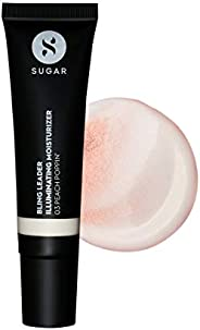 SUGAR Cosmetics Bling Leader Illuminating Moisturizer - 03 Peach Poppin' - Warm peach with a pearl finish