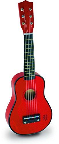 Vilac 8306 1er Age - Guitarra de juguete, color rojo [Importado de Francia]