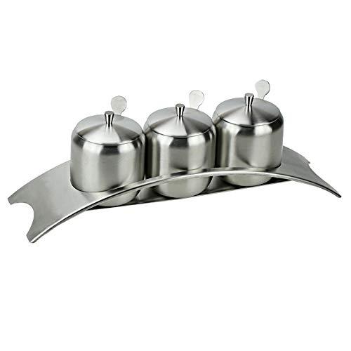 Acier Inoxydable Assaisonnement Pot Pot Pont Épice Contenant Boîte De Sucre De Sel Européenne Simple Fournitures De Cuisine