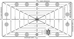 Quilting Rulers Creative Grids 12-1/2in x 12-1/2in, Square It Up and Fussy Cut Acrylic Quilters Ruler by Creative Grids