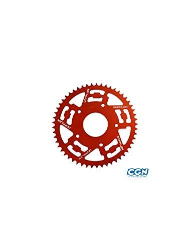 Couronne Moto Doppler Adapt. xr7/nk7/xp7 SM/xps 05-08/mrt 11 420 (53dts) d62/5 Fix-alu ro