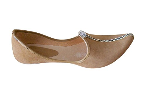 kalra Creations Veste de velours traditionnel indien Flâneur Chaussures Marron