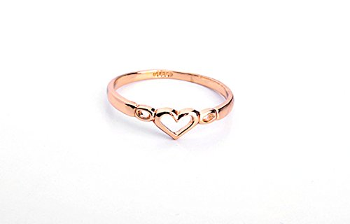WildChildShoppe Golden Alloy Love Heart Ring Romantic Girlfriend Couple Valentine Ring For Girls Women