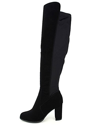 Cendriyon Botte Semi Cuissarde Stephan Velours Chaussures Femme