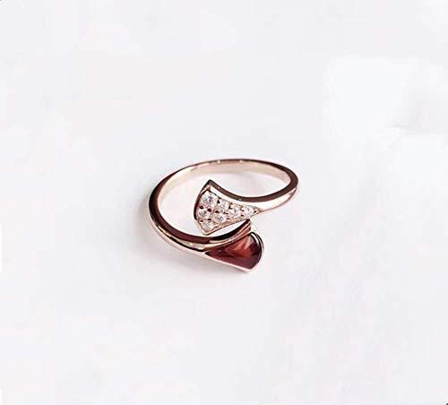 ZXH Amazon neuen Sektor Rock Natur Onyx Ring S925 versilbert Diamantring verdickte Frau Mode Ringöffnung