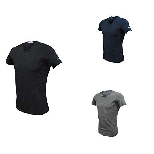 3 t shirt uomo mezza manica scollo V cotone bielatico ENRICO COVERI art ET1001