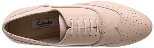 Clarks Ennis Willow, Chaussures de ville femme Rose (Dusty Pink Lea)