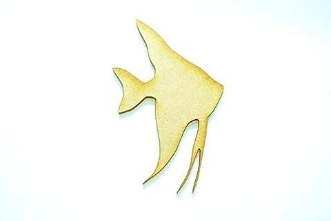 Poissons-anges MDF ornement de forme pour l'artisanat, bois artisanat art par GetitMakeit