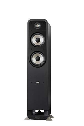 Polk Audio Signature S55E Standlautsprecher, HiFi Lautsprecher für Musik und Heimkino Sound, passiver Full Range Lautsprecher, 20 - 200 Watt, 8 Ohm, High Res, 40Hz - 40kHz (Stück)