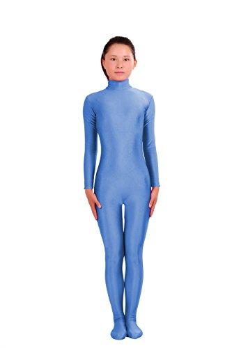 Howriis Unisex Lycra Spandex Zentai Unitard Bodysuit Gr. X-Large, blau