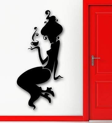 Wall Sticker Vinyl Decal Sexy Silhouette Girl Beauty Cafe Coffee Pause VS1962 Pause Tester