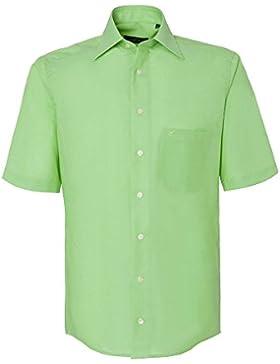 CASAMODA Herren Businesshemd auch große Größen 100% Baumwolle grün 42/L
