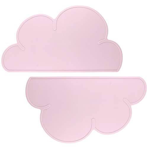 Platzsets für Babys, Danolt Rutschfeste Wolke Tischsets Hitzebeständige Silikon Platzdeckchen für Kleinkinder, Kinder, Mädchen, Jungen, Fütterung.