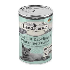 Landfleisch Cat Adult Pastete Rind+Kabeljau   6X 400g Katzenfutter