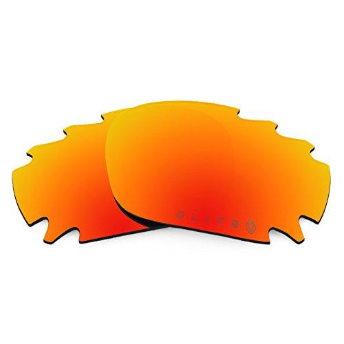 Revant Ersatzlinsen für Oakley Racing Jacket Vented Polarisierung Elite Feuerrot MirrorShield® Asian Fit