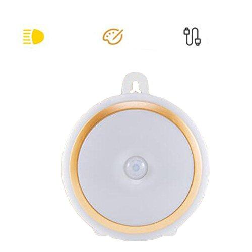 Körper-Sensor-Nachtlicht Energiesparende Pasten-Aufladungs-Wand-Lampe Automatisches Licht-Gold