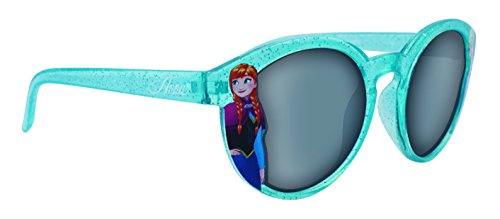 Occhiali da sole in plastica blu scintillante disney frozen girl