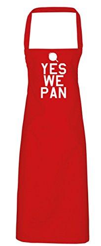 Die Pfanne Band (hippowarehouse Ja wir Pfanne Schürze Küche Kochen Malerei DIY Einheitsgröße Erwachsene, rot, Einheitsgröße)