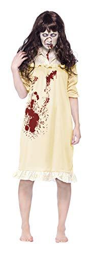Exorzist Kostüm - Smiffys, Damen Zombie-Albtraum Kostüm, Nachthemd und Perücke, Größe: XS, 43723