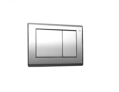 Tece Teceplanus-Abdeckplatte mit Betätigung 2-Mengen-Spülung Nr. 9.240.321 verchromt, 9240321