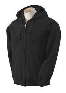 Gildan Heavy Blend Erwachsenen Kapuzen Sweatjacke 18600, Black, XL -