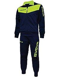 menitashop Tuta GIVOVA Uomo Donna Visa Fitness Calcio Blu Nero Bianco  Giallo Rosso 0d23ca2187b
