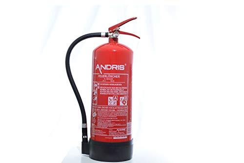 Feuerlöscher 6L Schaum EN3 für Gewerbe geeignet + ANDRIS® ISO-Symbolschild + Prüfnachweis