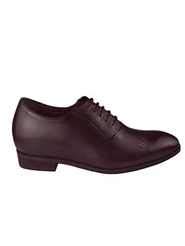Centimetri Accresce Con In 8 Bordeaux Dintérieur Cuoio Sneakers Zerimar wq7taa8