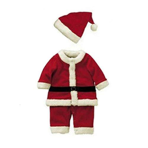 Weihnachtsmann Kind Kostüm - Wingbind Weihnachtsmann Anzug für Kinder Classic Jungen Mädchen Kostüm für Weihnachtsferien