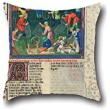 Cushion Cases Of Oil Painting Gaston Phoebus - Livre De La Chasse 16 X 16 Inches / 40 By 40 Cm,best Fit For Wife,valentine,bedding,family,valentine,bench Two Sides