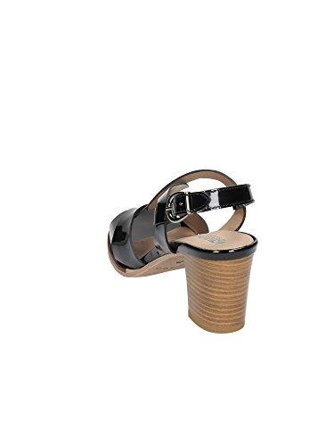 IGI & CO 18720 verni noir à talons en cuir sandales chaussures femme Nero