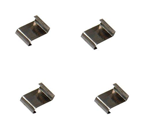 Bulk Hardware BH03660 Edelstahl-Glasclip mit Z-Lap, Type , 100 Stück -