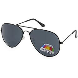 Cheapass Occhiali da Sole Wayfarer Opaci Lenti Specchiati Neri Arancioni 100% UV400 Protetti LyKq7espV
