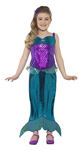 Smiffys 45478L - Kinder Mädchen Magisches Meerjungfrau Kostüm, Kleid und Haarband, Alter: 10-12 Jahre, grün (Mädchen Magische Meerjungfrau Kostüme)