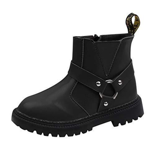 WEXCV Unisex-Kinder Boots Stiefel Winter Schneeschuhe Warme Baby Mädchen Einfarbig Prinzessin Neugeborene rutschfeste Babyschuhe Krabbelschuhe Wanderer Schuhe