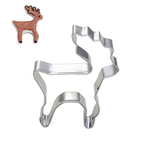 WANG 4pcs Christmas Reindeer Cookie Presses Icing Sets Vegetable Biscuit Cookie Cutter Tools Molds for Plaster Stainless Steel Sale,4pcs (Cookie Icing Christmas)