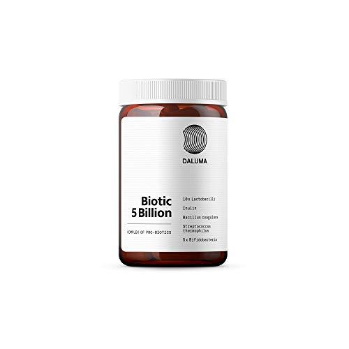 Probiotika Kapseln - Darmsanierung Kapseln zur Unterstützung der Verdauung und der Gesundheit - DALUMA Biotic 5 Billion
